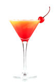 Tequila sunrise alcohol cocktail with ice Royalty Free Stock Images