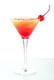 Tequila sunrise alcohol cocktail with maraschino Royalty Free Stock Photography