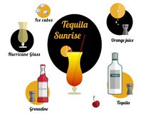Tequila sunrise stock illustration