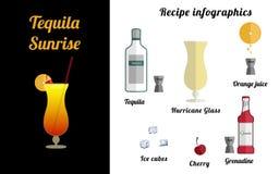 Tequila sunrise royalty free illustration