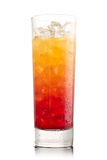 Tequila sunrise Cocktail. Isolated on a white Royalty Free Stock Photography