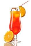 Tequila Sunrise cocktail. Isolated on white Royalty Free Stock Photography