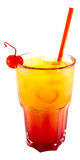 Tequila Sunrise cocktail. In white background Royalty Free Stock Images