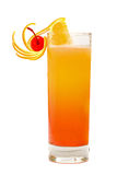 Tequila Sunrise Cocktail stock images