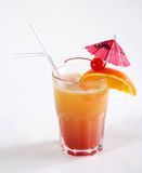 Tequila sunrise Cocktail. On a white background Royalty Free Stock Photo