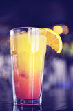 Tequila sunrise Cocktail on bar.  Stock Image