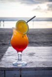 Tequila sunrise. Cocktail at the beach in Bali Stock Images