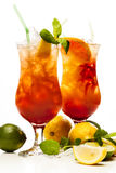 Tequila Sunrise cocktail Stock Image