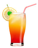 Tequila Sunrise drink. An alcoholic drink called a Tequila Sunrise Stock Photography