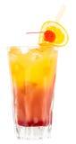 Tequila Sunrise Drink. Alcoholic drink isolated on white background Stock Image