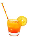 Tequila Sunrise, Lemon, Isolated, Clipping Path Royalty Free Stock Photos