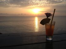 Tequila sunrise and the sunset Royalty Free Stock Image