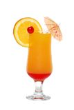 Tequila sunrise with an umbrella Royalty Free Stock Image