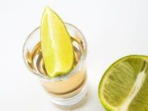 Tequila- und Kalkzeit Stockfotografie
