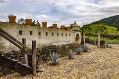 Tequila Winery Mexico. Tequila Winery Near San Sebastion Del Oste Mexico November Mid Afternoon. Small historical tequila winery Royalty Free Stock Photos