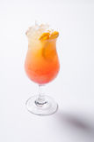 Tequila wschodu słońca koktajl z lodem na białym tle odosobniony Obraz Royalty Free