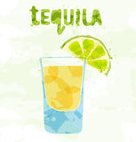 Tequilacoctail Arkivbild