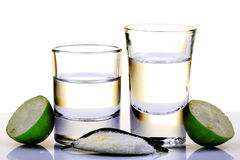 Tequilaschüsse Stockfotos