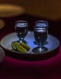 Tequilaschüsse Stockfoto