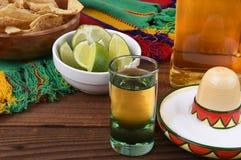 Tequilaschot Stock Foto