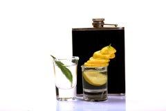 Tequilaschoten stock foto's