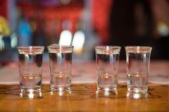 Tequilaschoten - alcohol royalty-vrije stock fotografie