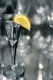 Tequilla con il limone Fotografie Stock