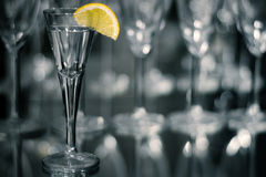 Tequilla with lemon Royalty Free Stock Images