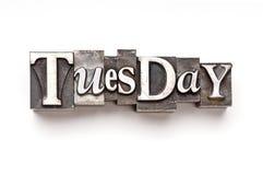 Terça-feira Imagens de Stock