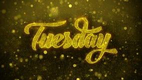 Terça-feira deseja o cartão de cumprimentos, convite, fogo de artifício da celebração
