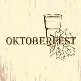 Ter beschikking getrokken van het Oktoberfestembleem schetsstijl Royalty-vrije Stock Fotografie