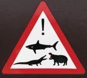 Ter cuidado com animais selvagens Foto de Stock