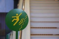 Ter cuidado com escorregadiço em escadas Fotos de Stock Royalty Free