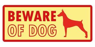 Ter cuidado com o cão, vetor do sinal Fotos de Stock Royalty Free