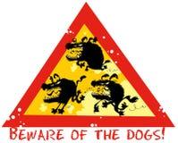 Ter cuidado com os cães Fotos de Stock