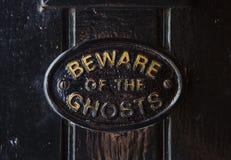 Ter cuidado com os fantasmas fotografia de stock royalty free