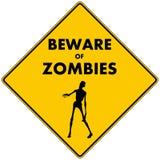 Ter cuidado com zombis Imagem de Stock Royalty Free