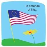 Ter verdediging van het leven? Stock Afbeelding
