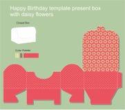 Teraźniejszy pudełko z wszystkiego najlepszego z okazji urodzin etykietką ilustracja wektor