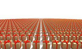 Teraźniejszy Pudełkowaty Komputer Wytwarzający Wizerunek Obraz Royalty Free