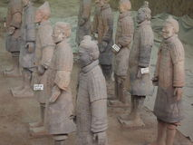 Tera ратники Xian Китай плитки Стоковые Изображения RF