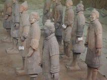 Tera Cotta Warriors Xian China Royaltyfria Bilder