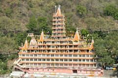Tera Manzil Shiva Hindu temple Rishikesh, India Royalty Free Stock Photo