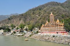 Tera Manzil Shiva Temple in Rishikesh, India Royalty Free Stock Photos