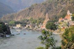Tera Manzil Shiva Temple in Rishikesh, India Royalty Free Stock Images