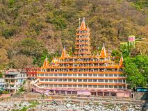 Tera Manzil Temple in Rishikesh Royalty Free Stock Photos