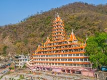 Tera Manzil Temple in Rishikesh stock photo