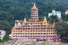 Tera Manzil Temple in Rishikesh near the River Ganges, India Royalty Free Stock Image
