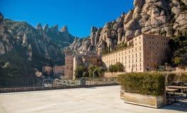 Terace des Standpunkts auf dem Montserrat-Berg Lizenzfreie Stockbilder