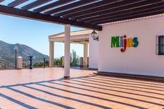 Terace in Mijas Royalty-vrije Stock Afbeeldingen